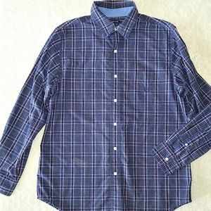 Chaps Button Down Plaid Shirt Size Medium